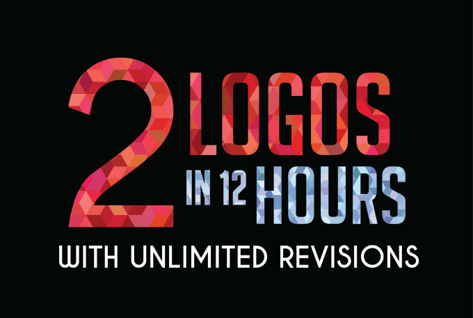 I will design 2 logo versions in 12 hours with unlimited revisions