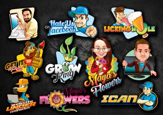 I will design a cartoon, mascot or caricature logo for you