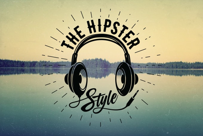I will design a cool vintage hipster or retro logo