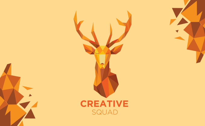 Our Studio will offer custom polygonal logo and stationery design